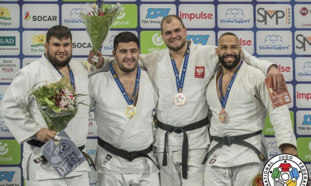 Vlăduț Simionescu, medalie de argint la Grand Prix-ul de judo de la Haga! A luptat accidentat în finală
