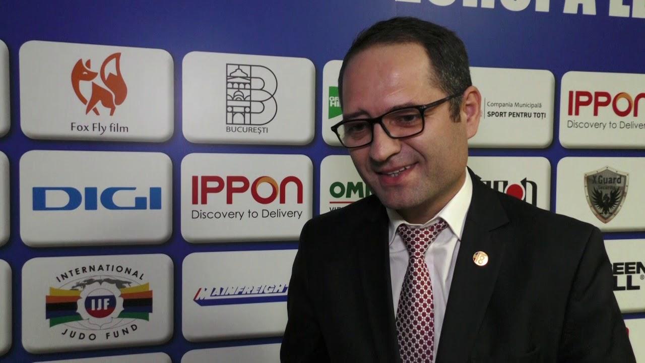 C.E. JUDO BUCURESTI 2018 Interviu cu Ministrul Sportului, Constantin Bogdan Matei